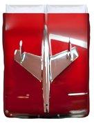 1955 Chevy Belair Hood Ornament Duvet Cover by Sebastian Musial