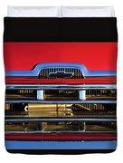 1957 Chevrolet Pickup Truck Grille Emblem Duvet Cover by Jill Reger