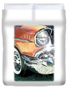 1957 Chevy Duvet Cover by Steve McKinzie