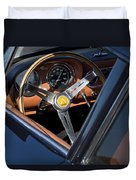 1963 Apollo Steering Wheel     Duvet Cover by Jill Reger