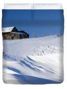 Alberta, Canada Abandoned Farm Building Duvet Cover by Philippe Widling