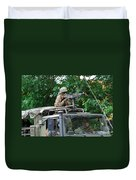 An Infantry Soldier Of The Belgian Army Duvet Cover by Luc De Jaeger