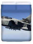 An Italian Air Force Tornado Ids Duvet Cover by Gert Kromhout