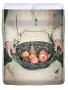 Basket With Fruits Duvet Cover by Joana Kruse