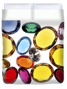 Colorful Gems Duvet Cover by Setsiri Silapasuwanchai