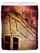 Creepy Abandoned House Duvet Cover by Jill Battaglia