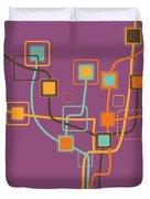 graphic tree pattern Duvet Cover by Setsiri Silapasuwanchai