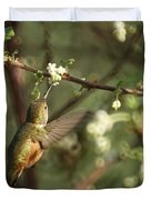 Hummingbird Duvet Cover by Ernie Echols