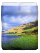 Kylemore Lake, Co Galway, Ireland Lake Duvet Cover by The Irish Image Collection