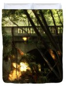 Pedestrian Bridge And Strawberry Creek  . 7d10132 Duvet Cover by Wingsdomain Art and Photography