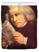 Samuel Johnson, English Author Duvet Cover by Photo Researchers