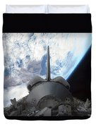 Space Shuttle Endeavours Payload Bay Duvet Cover by Stocktrek Images