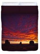Sunrise Over Monument Valley, Arizona Duvet Cover by Robert Postma