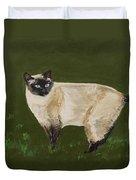 Sweetest Siamese Duvet Cover by Leslie Allen