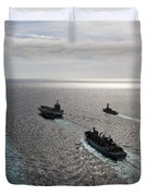 The Enterprise Carrier Strike Group Duvet Cover by Stocktrek Images