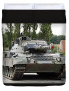 The Leopard 1a5 Of The Belgian Army Duvet Cover by Luc De Jaeger
