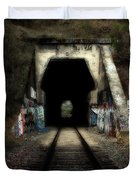 Train Tunnel At The Muir Trestle in Martinez California . 7D10220 Duvet Cover by Wingsdomain Art and Photography