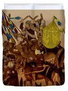 Turkish Muslims The Crusades Duvet Cover by Photo Researchers