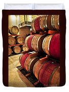 Wine Barrels Duvet Cover by Elena Elisseeva