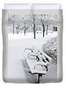 Winter Park Duvet Cover by Elena Elisseeva