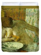 Woman At Her Toilet Duvet Cover by Edgar Degas