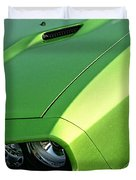 2011 Dodge Challenger Srt8 - Green With Envy Duvet Cover by Gordon Dean II