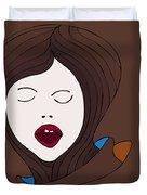 A Woman Duvet Cover by Frank Tschakert