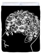 Brain Design By Cogs And Gears Duvet Cover by Setsiri Silapasuwanchai