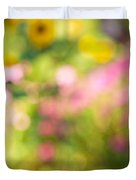 Flower garden in sunshine Duvet Cover by Elena Elisseeva