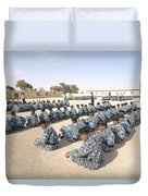 Iraqi Police Cadets Being Trained Duvet Cover by Andrew Chittock