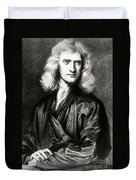 Isaac Newton, English Polymath Duvet Cover by Science Source