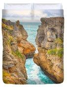Pancake Rocks Duvet Cover by MotHaiBaPhoto Prints