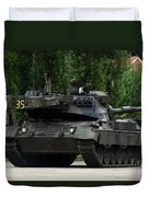 The Leopard 1a5 Mbt Of The Belgian Army Duvet Cover by Luc De Jaeger