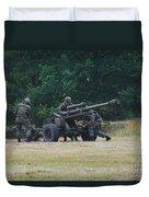 A Belgian Artillery Unit Setting Duvet Cover by Luc De Jaeger
