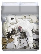 An Astronaut Participates In A Session Duvet Cover by Stocktrek Images