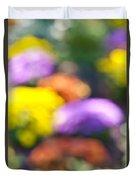 Flower Garden In Sunshine Duvet Cover by Elena Elisseeva