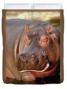 Hippopotamus Hippopotamus Amphibius Duvet Cover by Gerry Ellis