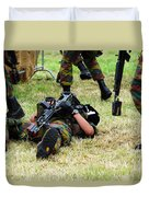 Soldiers Of A Belgian Infantry Unit Duvet Cover by Luc De Jaeger