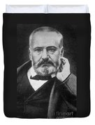 Victor Hugo, French Author Duvet Cover by Photo Researchers