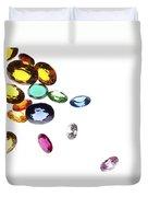 Colorful Gems Duvet Cover by Setsiri Silapasuwanchai