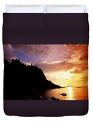 Dunluce Castle, Co Antrim, Ireland Duvet Cover by The Irish Image Collection