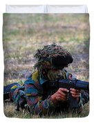 Infantry Soldiers Of The Belgian Army Duvet Cover by Luc De Jaeger