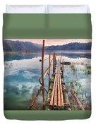 Tamblingan Lake Duvet Cover by MotHaiBaPhoto Prints