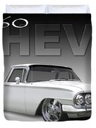 60 Chevy El Camino Duvet Cover by Mike McGlothlen