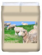 Sheeps Duvet Cover by MotHaiBaPhoto Prints