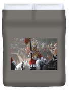 A British Life Guard Of The Household Duvet Cover by Andrew Chittock