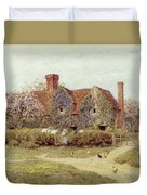A Buckinghamshire House At Penstreet Duvet Cover by Helen Allingham