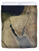 A Cloud Of Tan Dust From Saudi Arabia Duvet Cover by Stocktrek Images