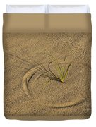 A Compass In The Sand Duvet Cover by Susan Candelario