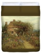 A Cottage Near Brook Witley Surrey Duvet Cover by Helen Allingham